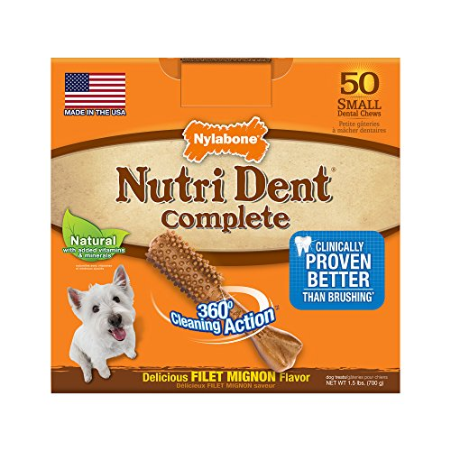 - Nylabone Nutri Dent Adult Filet Mignon 50 ct Small Pantry Pack