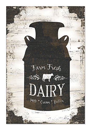 Farm Fresh Dairy Milk Can Shiplap Style Wood Sign 12x18 for sale  Delivered anywhere in USA