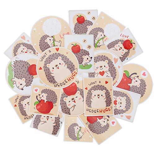 Navy Peony Spiky Hedgehog Stickers