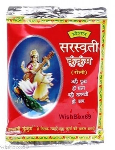 20xKumkum Powder Saraswati India Hindu Puja Temple Sindoor Roli Havan Religious Purpose