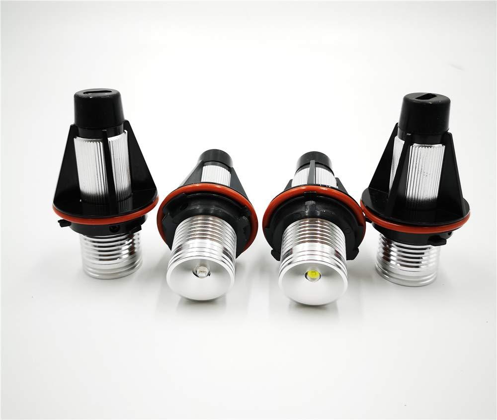 F/ür BMW E39 E53 E60 E61 E63 E64 E65 E66 E87 525I 530I Xi 545I M5 SLONGK Auto Blinkende 2 St/ücke Fehlerfreie Led Angel Eyes Marker Lichter Lampen