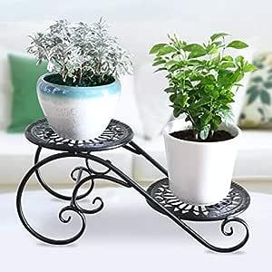 WYQ Metal Plant Stand, Puesto de Flores para Interiores y ...