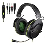 SUPSOO G830 Xbox one Gaming Headset 3.5 mm Wired Over Ear PS4 Headset With Microphone Noise Cancelling Gaming Headphones For PC, PS4, PS4 PRO, Xbox One, Xbox One S(Black)