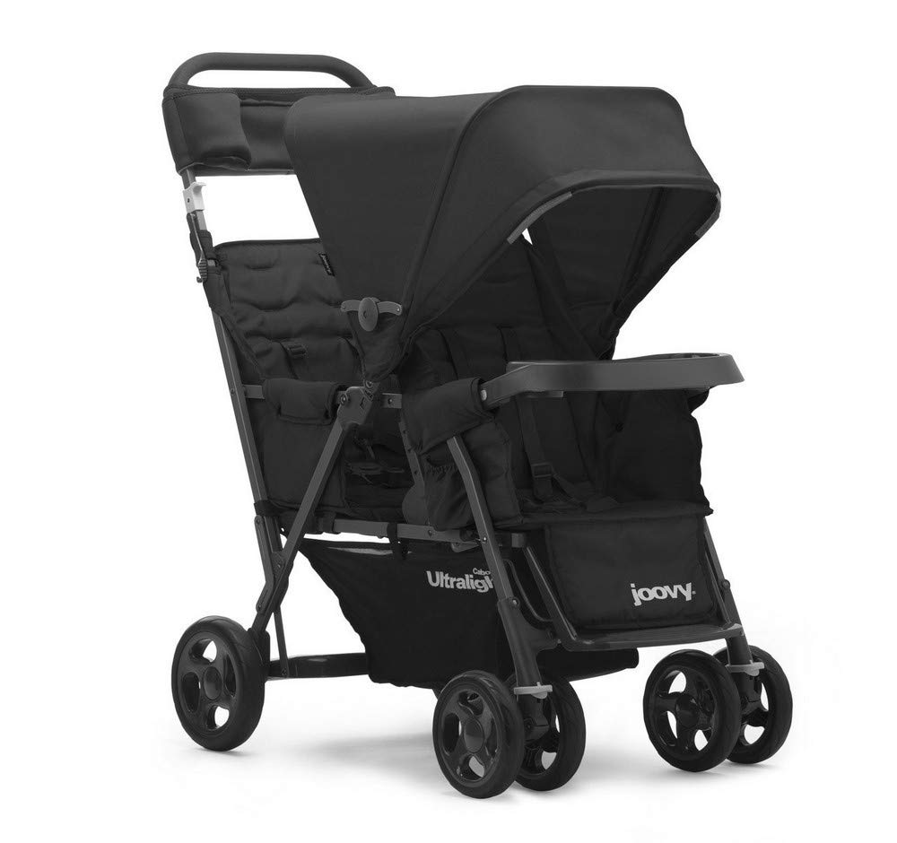 JOOVY Caboose Too Graphite Stand-On Tandem Stroller, Black 8167