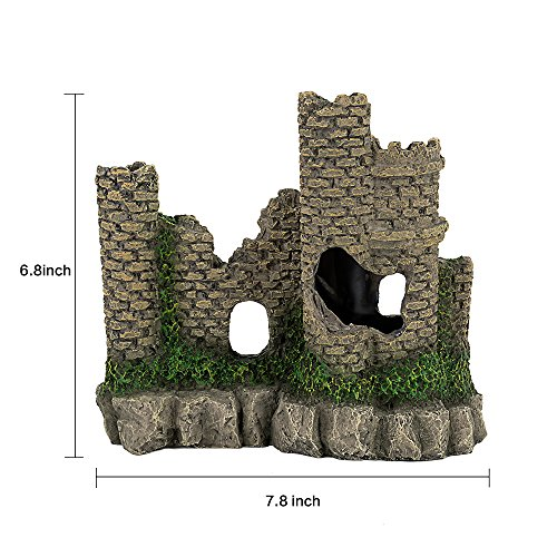 Hygger Aquarium Ornaments Fish Tank Decorations Castle Cave Resin Roman Column, Non-toxic Durable Resin Material, Safe for Fish by Hygger (Image #7)