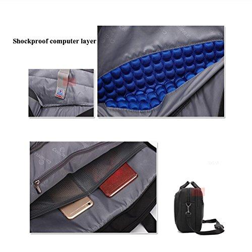 Classic Laptop Men Waterproof Bag Bags Nylon 6 Shockproof Shoulder 15 Inches Handbag Fabric Plyy 15 p5THw