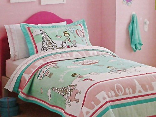 I LOVE PARIS (Full/Queen) Quilt (all cotton) by Circo (Image #1)
