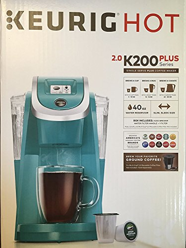 Keurig 2.0 K200 Plus Series Single Serve Plus Coffee Maker Brewer Turquoise