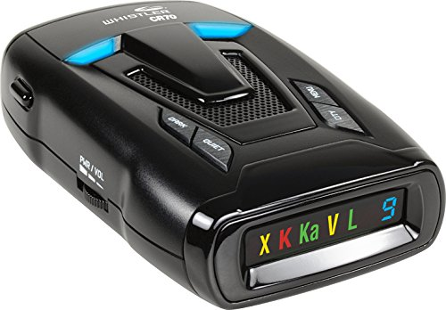 Whistler CR70 Laser Radar Detector: 360 Degree Protection and Voice Alerts