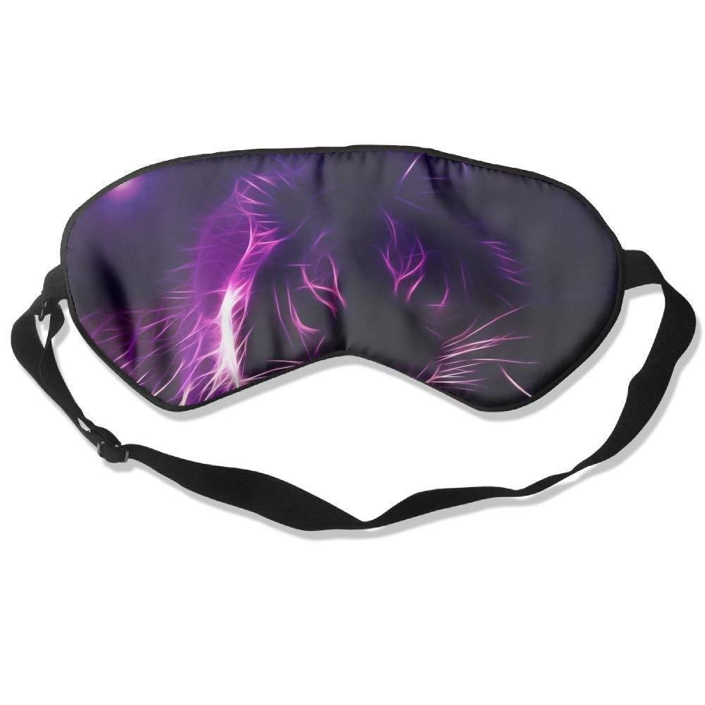 Sleep Eye Mask Purple Lion Lightweight Soft Blindfold Adjustable Head Strap Eyeshade Travel Eyepatch Fsrkje