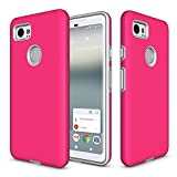 Google Pixel 2 XL Case,Berry (TM) [Non-slip] [Drop Protection] [Shock Proof] [Dual Lawyer] Hybrid Defender Armor Full Body Protective Rugged Holster Case Cover for Google Pixel 2 XL (2017) Hot Pink Review