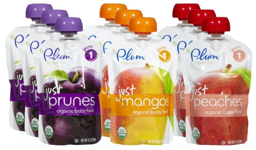 Plum Organics Just Fruits Variety Pack (Set of 9)