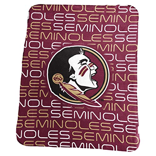 Logo Brands NCAA Florida State Seminoles Classic Fleece, One Size, - Florida State Plush