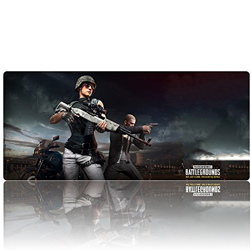 Beyme Pubg Gaming Mouse Pad Extended Xxl Large Keyboard Mat For Playerunknown S Battlegrounds  35 4X15 7X0 1In  90X40 Battlegrounds 003