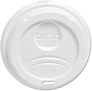 DXE9538DXPK - Dixie WiseSize, Fits 8 Ounce Hot Drink Cups, White, 100 Lids