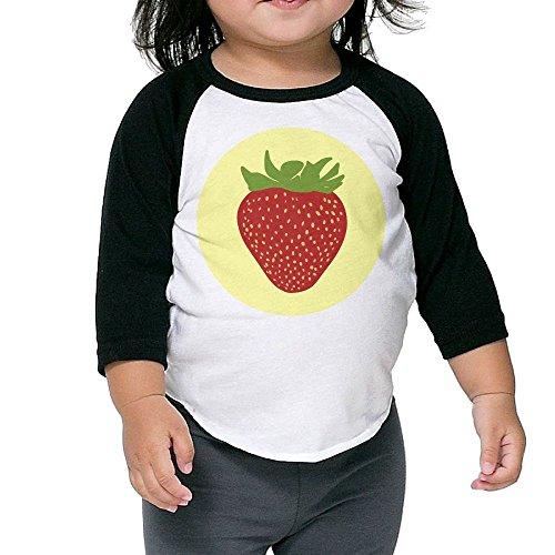 Susuha Cute Strawberry A Child's Sleeve Shoulder Shirt 5-6 - Az Place Park