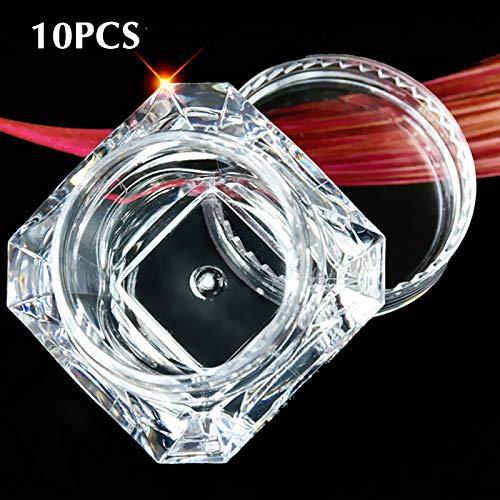 ONEVER 10pcs diamante libero bottiglia vuota trucco contenitore acrilico per cosmetici gioielli crema vaso vuoto Pot ombretto