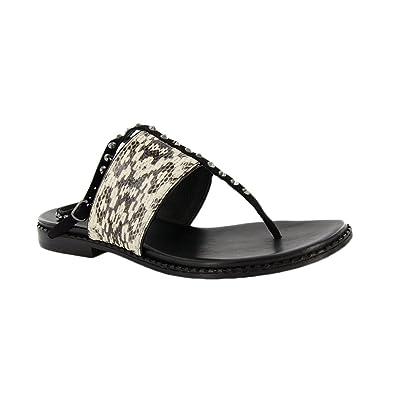 3d01eba32bc Amazon.com  Donald Pliner Womens Lacysp Sandal Sz 6.5 Silver Metallic  Streak 230485E  Shoes