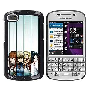 Caucho caso de Shell duro de la cubierta de accesorios de protección BY RAYDREAMMM - BlackBerry Q10 - Japoneses Cartoon Girls