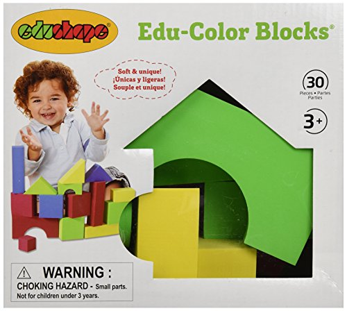 Edushape Educolor Building Blocks, 30 Piece