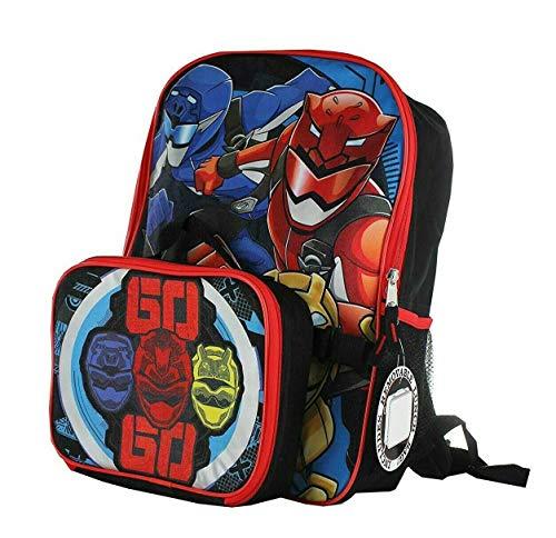[해외]Power Rangers 슈퍼 닌자 스틸 백팩 탈착식 절연 도시락 가방 / Power Rangers Super Ninja Steel Backpack with Detachable Insulated Lunch Bag
