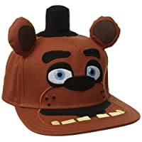 BIOWORLD Cinco noches en Freddy's Big Face, gorra de béisbol de felpa con snapback