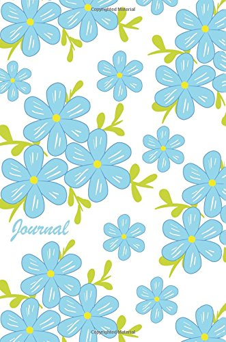 Journal: Blue Daisies 6x9 - GRAPH JOURNAL - Journal with graph paper pages, square grid pattern (Flowers Graph Journal Series)