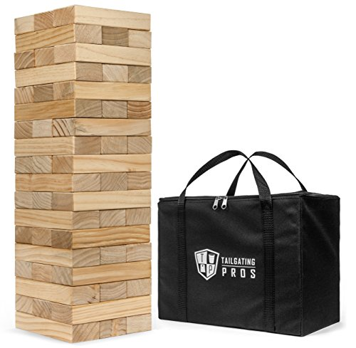 Tailgating Pros Giant Toppling Timbers Premium Version with Carrying Case by Tailgating Pros