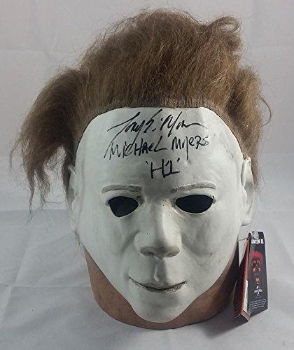 TONY MORAN SIGNED MICHAEL MYERS HALLOWEEN PROP MASK JSA PROOF J185 (Halloween Movie Props)