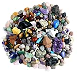 Product picture for Rock & Mineral Collection Activity Kit (Over 150 Pcs) with Educational Identification Sheet plus a genuine Meteorite fragment, Fossilized Shark Teeth and Arrowheads, Dancing Bear Brand