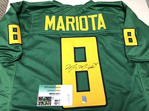 Marcus Mariota Autographed Signed Custom Oregon Ducks Jersey Mariota GTSM Hologram & COA Card