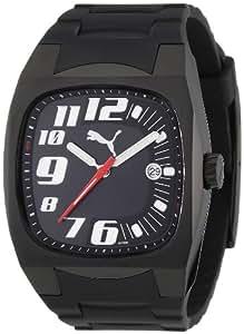 Puma Time - Reloj analógico de cuarzo para hombre con correa de plástico, color negro