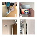 """BIGTEDDY - 6"""" French Cleat Picture Hangers Hardware Kit Mount Aluminum Z Clips Hanging Mounting Bracket for Mirror Photo Shelf and Cabinet"""