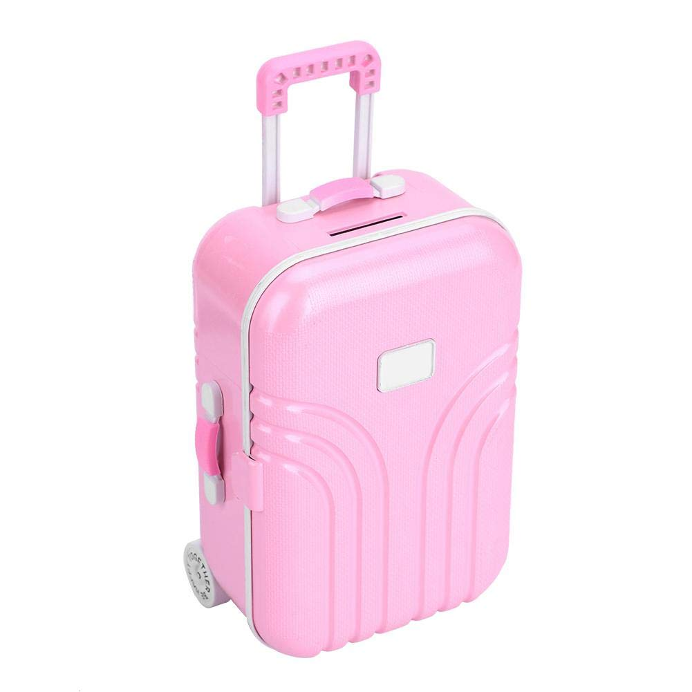 Zerodis Spielzeug Koffer Baby Koffer Spielzeug niedlichen Kunststoff Rollkoffer Mini Gep/äckbox f/ür Kinder Baby M/ädchen Kinder 6,1 4,1 Rosa 2,8 Zoll