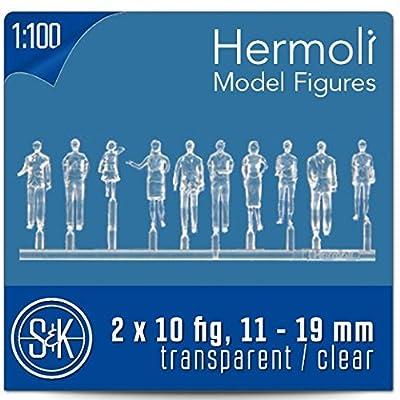 20modèle Figurines Transparent/peindre 1: 100(env. Embout de TT)