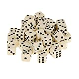 12mm 50Pcs Acrylic Playing Dice Set Children Kids Toys Yellow Color