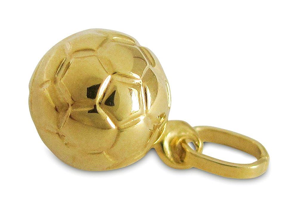 Colgante Balón de fútbol Oro amarillo 585er (mm): Amazon.es: Joyería