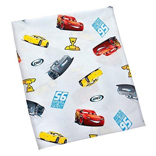 Disney Cars Rusteze Racing Team 4 Piece Toddler Bedding Set, Blue/Red/Yellow/White 6