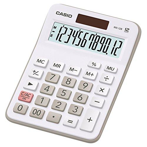Calculadora de Mesa Casio 12 Dígitos MX-12B-WE-DC - Branca