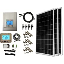 WindyNation 300 Watt (3pcs 100W) Solar Panel Kit with TrakMax 30L MPPT Solar Charge Controller Complete Kit for RV's, Boats and Off-grid