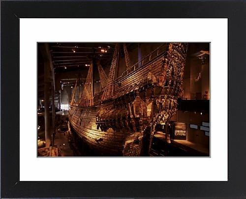 17th Century Warship (Framed Print of Vasa, a 17th century warship, Vasa Museum, Stockholm, Sweden, Scandinavia)