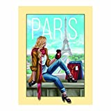 Adarl DIY 5D Diamond Painting by Number Kit, Full Drill Woman with Paris Rhinestone Embroidery Cross Stitch Supply Arts Craft Canvas Wall Decor