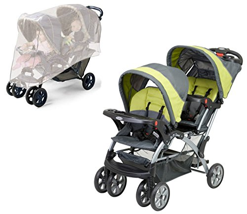 Baby Trend Sit And Stand Double Stroller Carbon - 5