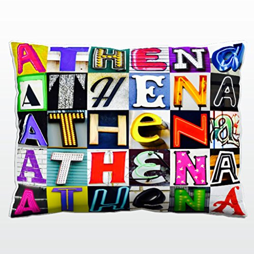 Athena Throw Pillow (Personalized Pillow featuring the name ATHENA in sign letter)