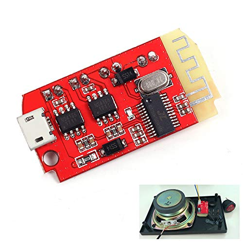Icstation Bluetooth Receiver Board Stereo Audio Amplifier 2x5W Mini Amp Module 3.7-5V for Portable DIY Wireless Speaker