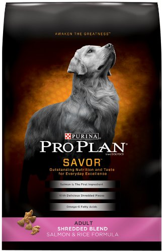 Purina Pro Plan SAVOR Adult Shredded Blend Salmon & Rice Formula Dry Dog Food - (1) 5 lb. Bag