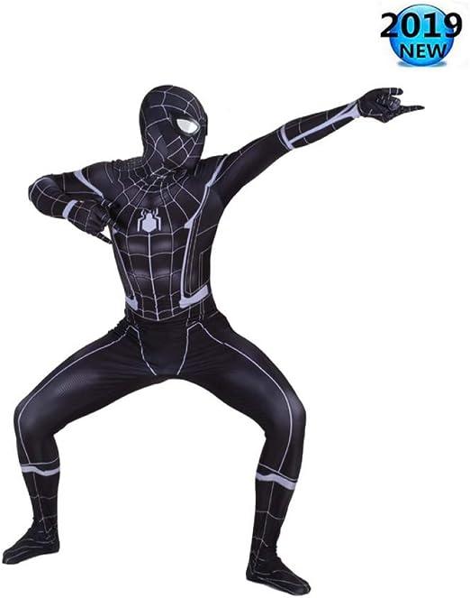 Disfraz De Spider-Man Negro Increíble Spider-Man Adulto Niño ...