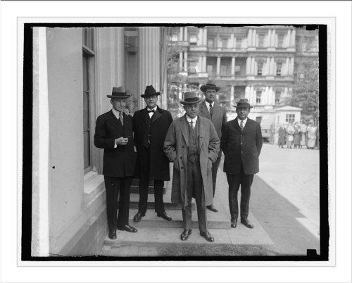 Historic Print (L): Arlington Mem. Bridge Com:, Dawes, Sen. Fernald, Longwort...