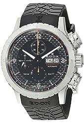 Edox Men's 01118 3 NO Chronorally 1 Analog Display Swiss Automatic Black Watch