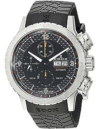 Men's 01118 3 NO Chronorally 1 Analog Display Swiss Automatic Black Watch